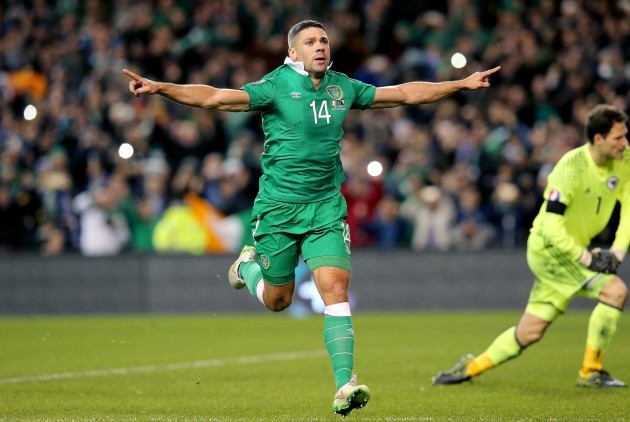 Jonathan Walters celebrates scoring a penalty