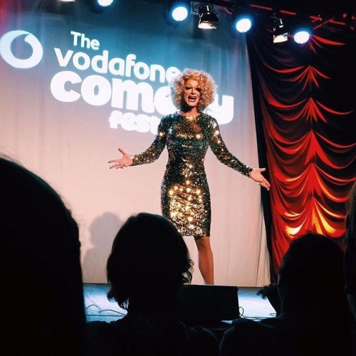 Getting done stuff off my chest at the Vodafone Comedy Festival.