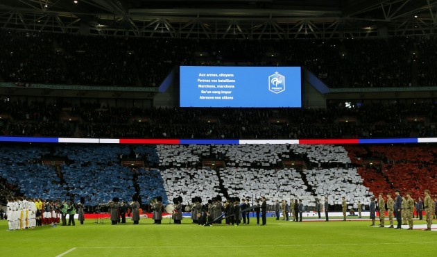 Britain England France Soccer Paris Attacks