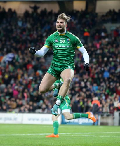 Aidan OÕShea celebrates scoring a goal