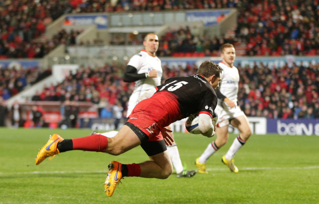 Alex Goode scores a try