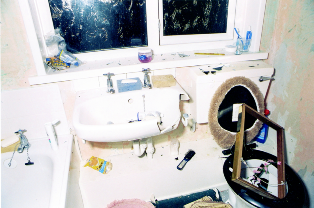 David Clarke's vandalised bathroom
