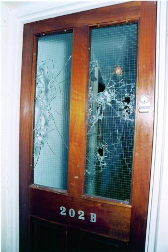 David Clarke's front door