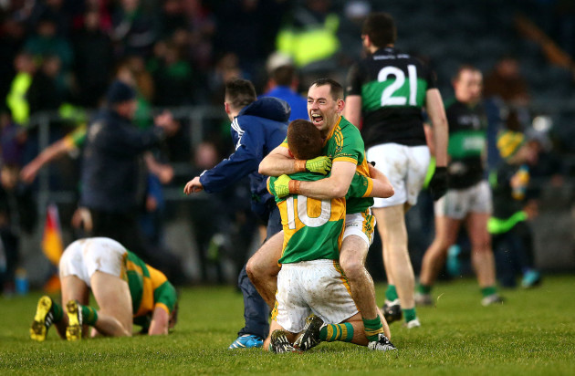 Fergal Condon and Luke Moore celebrates after the game