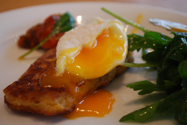 Poached egg - Sweetcorn Fritters - Jones the Grocer, Chadstone AUD9.50