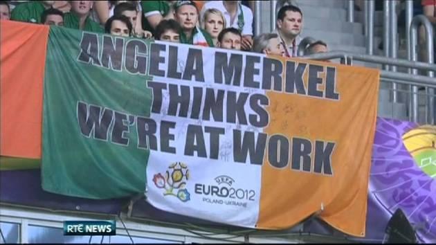 Ireland flag Merkel