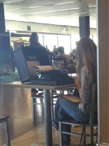 Hipsters these days... Just your typical day in a Seattle airport