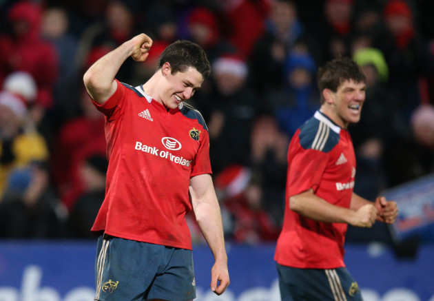 Ian Nagle celebrates at the end of the match 21/12/2013