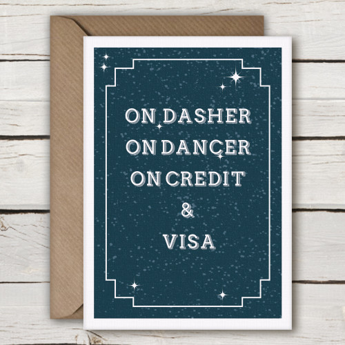 CX08-Funny-irish-Christmas-Card-by-Simple-Things-Dasher-Dancer-Credit-Visa