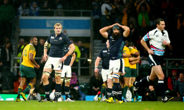 Craig Joubert leaves the field at the final whistle
