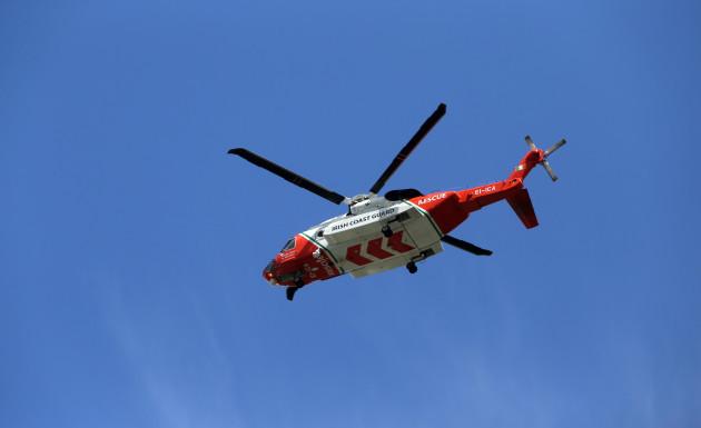 20/5/2015. The Irish Coast Guard helicopter in fli