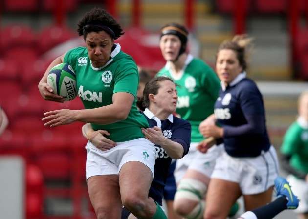Sophie Spence tackled by Nuala Deans