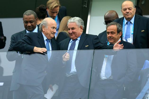 Soccer - Sepp Blatter, Michel Platini and Jeffery Webb File Photo