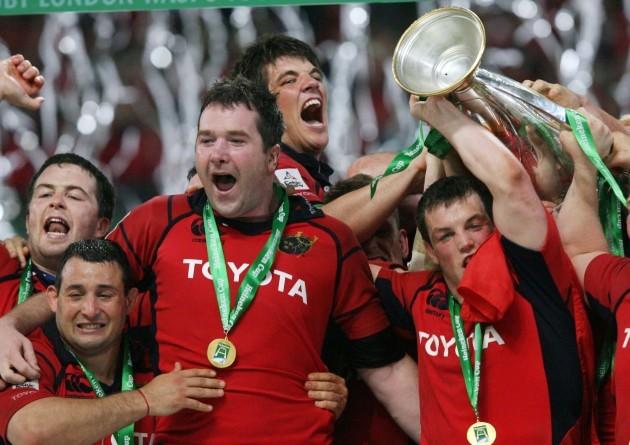 Munster players celebrate