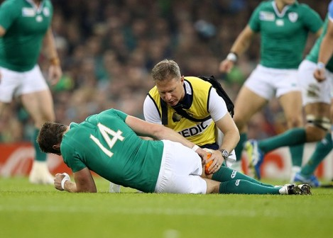 Tommy Bowe down injured