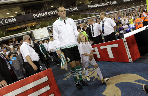 Dan Murray leads the Rovers team out