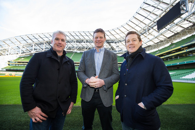 Victor Costello, Malcolm O'Kelly and Paul Wallace