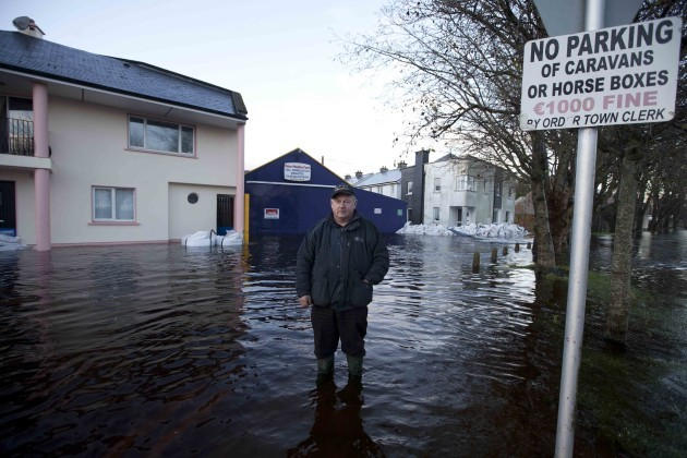 10/12/2015 Ballinasloe Floods. The town of Ballina