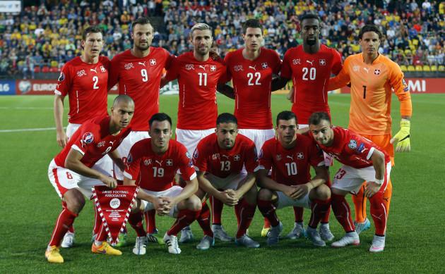 Lithuania Switzerland Euro Soccer
