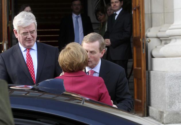 7/4/2014. Angela Merkel Vists Ireland