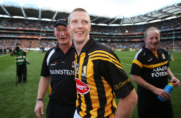Brian Cody and Michael Dempsey with Henry Shefflin