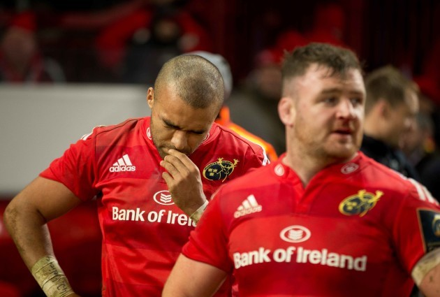 Simon Zebo and Dave Kilcoyne dejected after the game