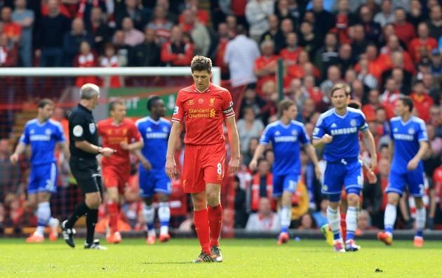 Soccer - Barclays Premier League - Liverpool v Chelsea - Anfield