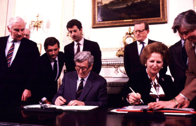 File Photo 30th Anniversary of the Signing of the Anglo-Irish Agreement this week