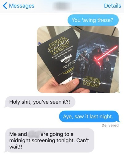 424f67bab A Star Wars fan brilliantly got back at his mate who spoiled his ...