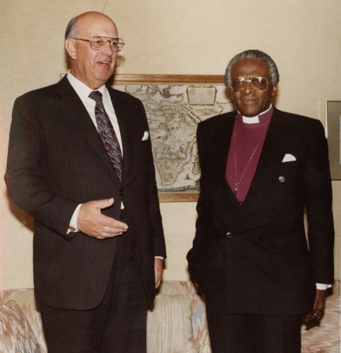 Pretoria Bishop Desmond Tutu and President PW Botha