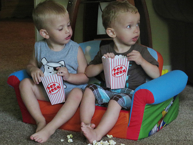 Tommy thought about taking Jimmy's pop corn.