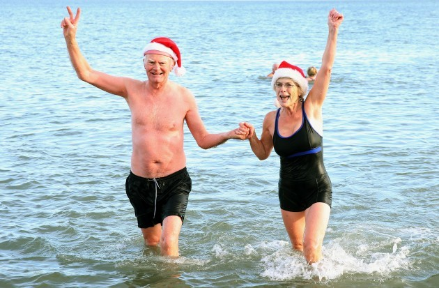 Christmas Day swim at Portmarnock