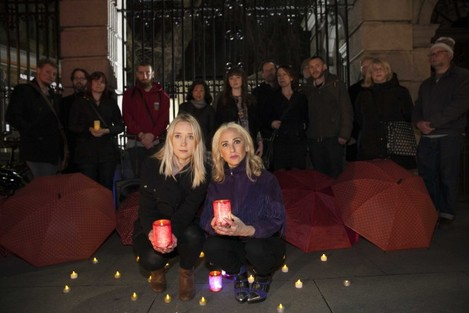 17/12/2015.Sex Workers Vigils. Pictured (L to R) D