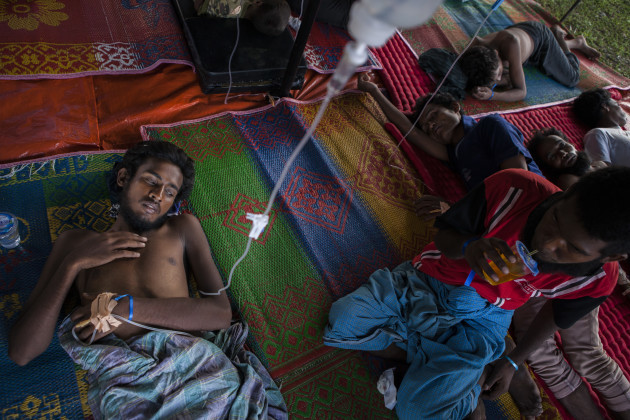 Indonesia. Rohingya refugees are rescued at sea