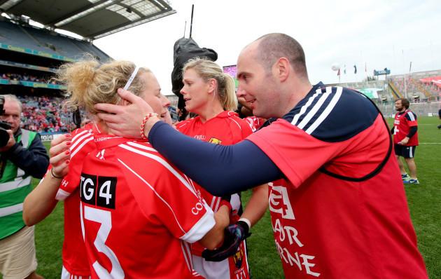 Valerie Mulcahy celebrates with Shane Ronayne