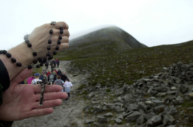 File Photo A retired parish priest has called for badly eroded sacred mountain Croagh Patrick to be declared off limits for many activities until a proper conservation plan is implemented. Fr Tony King wants the 764m mountain to be off-limits to extreme s