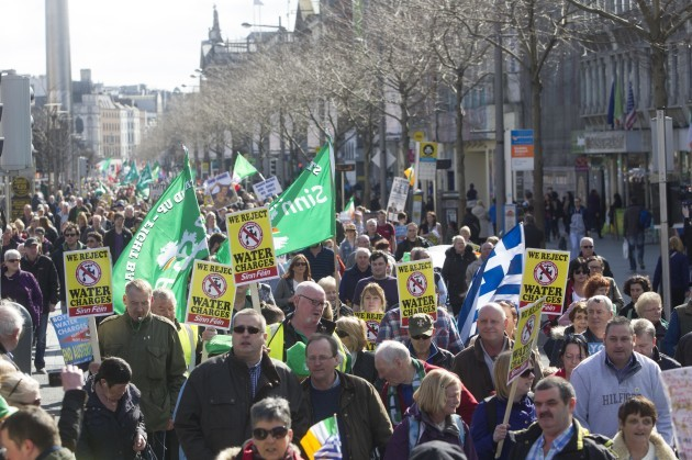21/03/2015. Water Protest. Pictured the Right To W