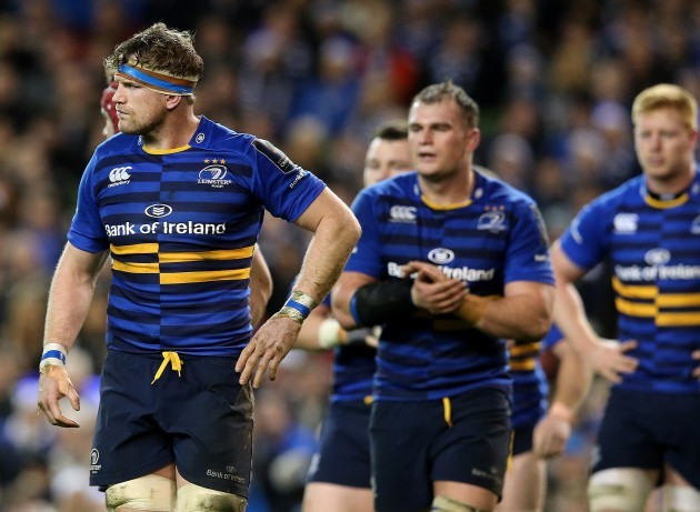 Jamie Heaslip dejected after his side conceded a penalty try