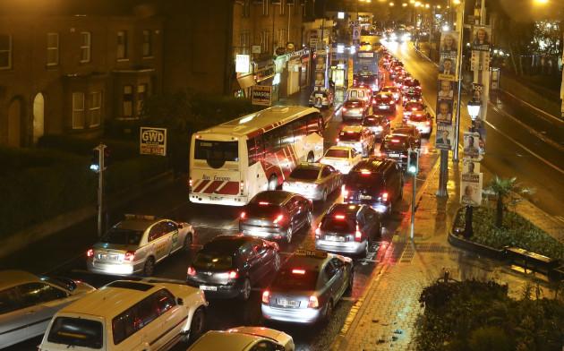 23/05/2014. Dublin Traffic. Pictured traffic backs