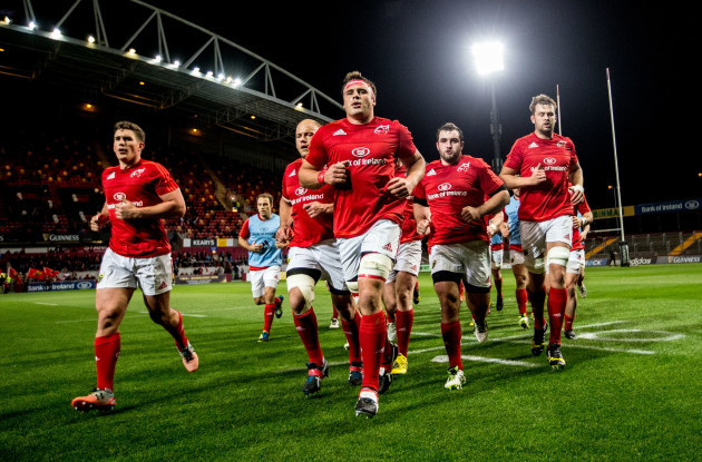 CJ Stander leads his team before the game