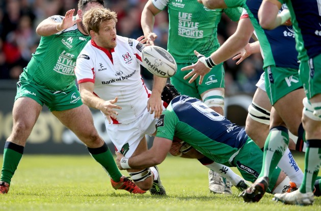 Denis Buckley and John Muldoon tackle by Chris Henry
