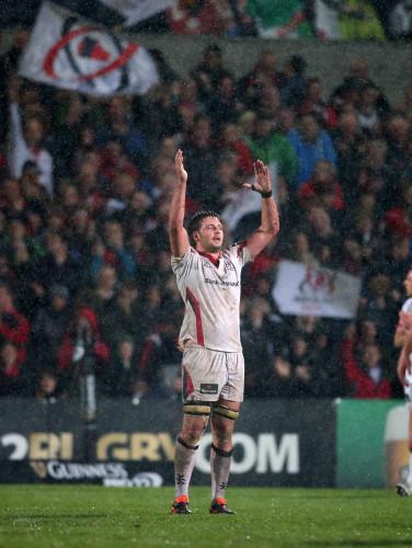 Iain Henderson celebrates winning