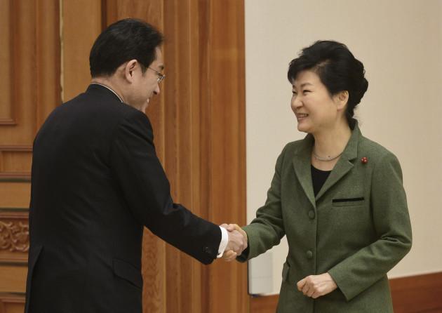 Park Geun-hye, Fumio Kishida