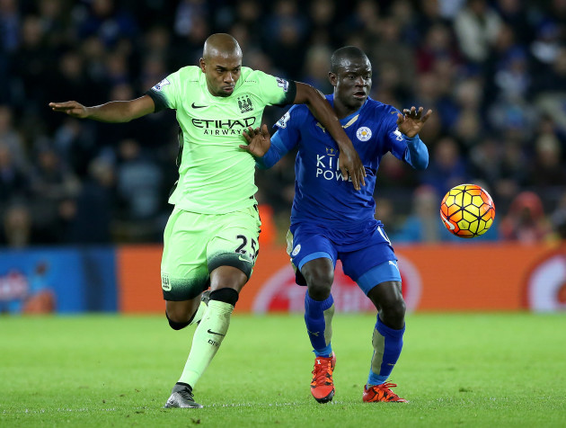 Leicester City v Manchester City - Barclays Premier League - King Power Stadium