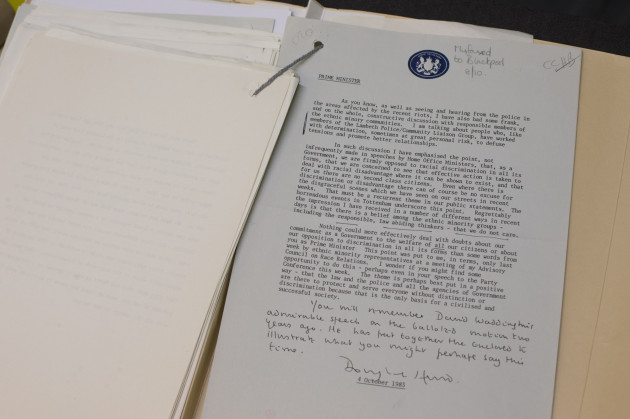 National Archives papers released