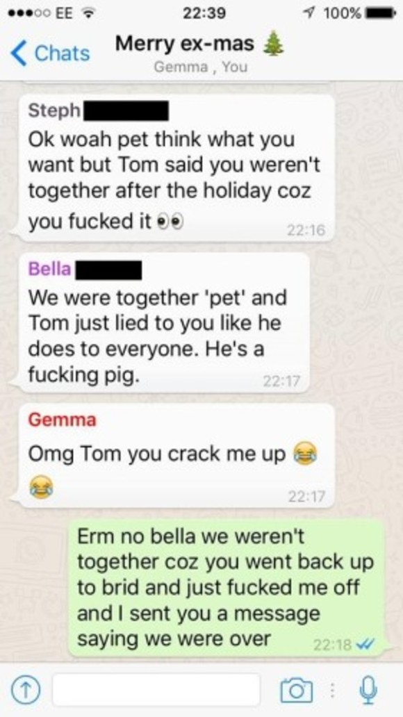 This lad added all his exes to a WhatsApp group to wish them Merry