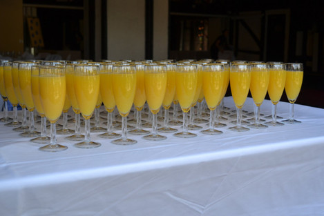 Welcome drinks (Buck's Fizz)
