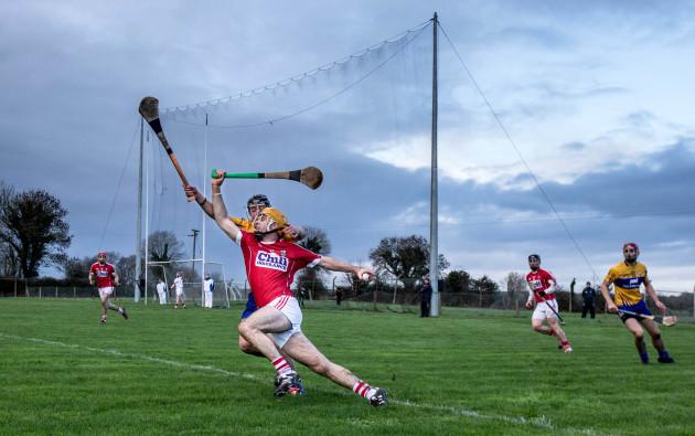 David Reidy tackles Conor Twomey