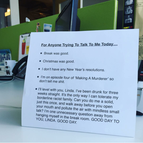 An Office Worker Came Up With The Perfect Post Christmas