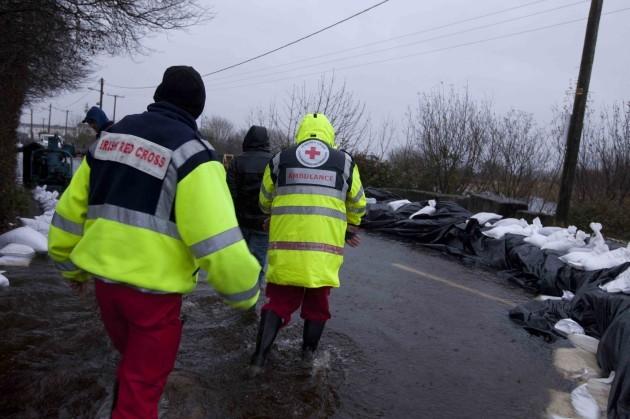 9/12/2015. Flooding Athlone. A Red Cross team arri
